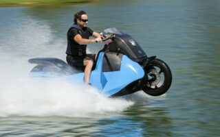 Découvrez Biski: la moto amphibie