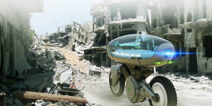 Moto autonome: Babylon, un concept d'ambulance sans chauffeur