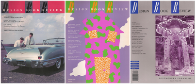 Collage of three Design Book Review covers