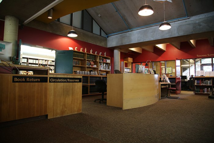 Meyer Library circulation desk