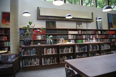 View of Meyer library