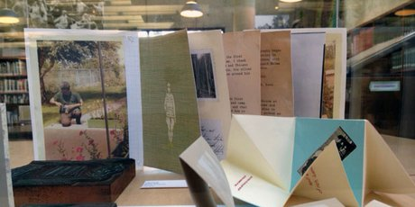 """Artists' books from the """"Reinventing the Block"""" display"""