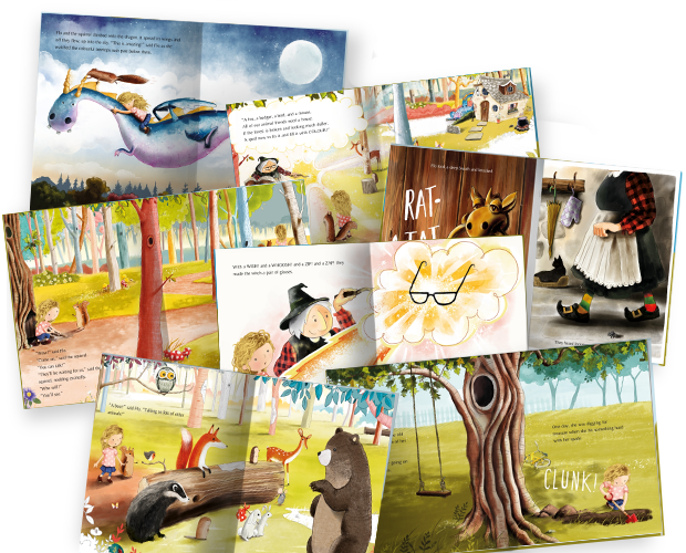 A selection of images from inside our The Tree, The Key and Me book