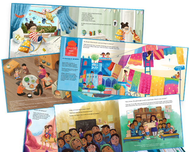 A selection of images from inside our Be Brave! book