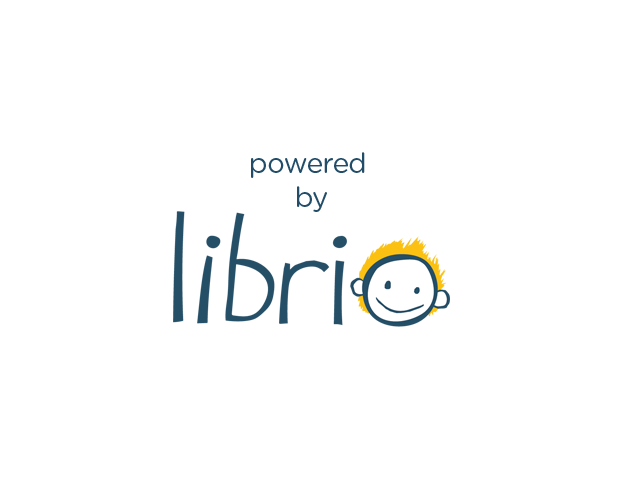 The words 'powered by' above the Librio smiley face logo