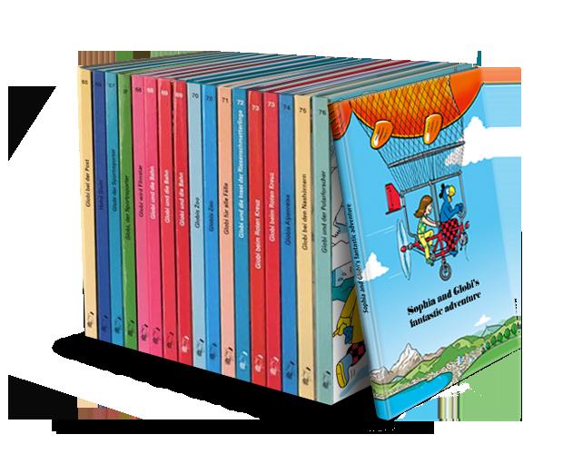 Una selección variada de libros de Globi