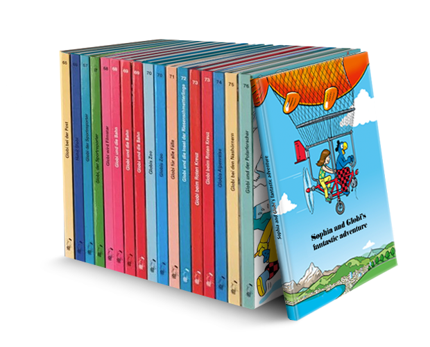 A selection of a variety of Globi books