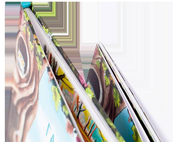 Una imagen de encuadernaciones de libros, mostrando el grosor de nuestro papel