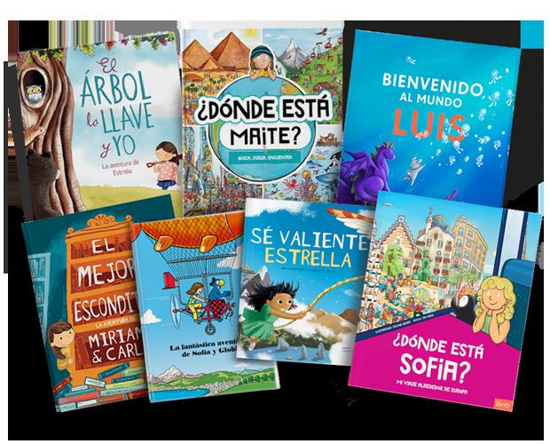 Una selección de todos nuestros libros infantiles personalizados