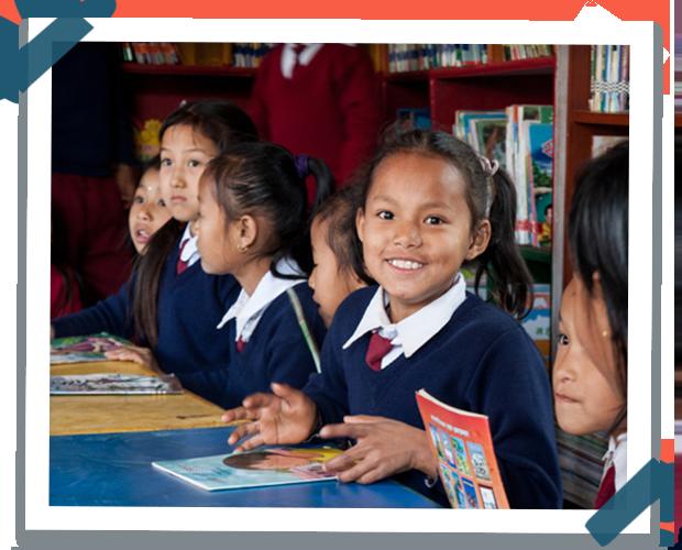 Estudiante en un colegio gracias al programa de Room to Read en Camboya
