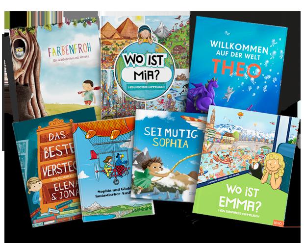 Alle personalisierten Kinderbücher aus dem Librio-Sortiment in der Übersicht