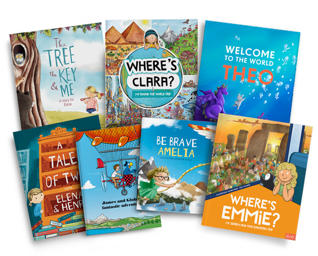 A selection of all of our personalised children's books