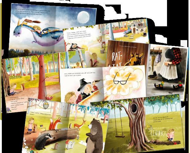 Una selección de imágenes del interior de nuestro libro El árbol, la llave y yo