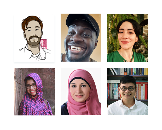 Photo of six illustrators for Be Brave