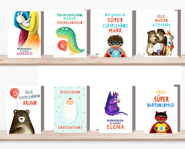 Selección de todas nuestras tarjetas de felicitación personalizadas