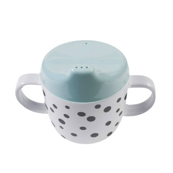 Drinkbeker happy dots blauw – Done by deer