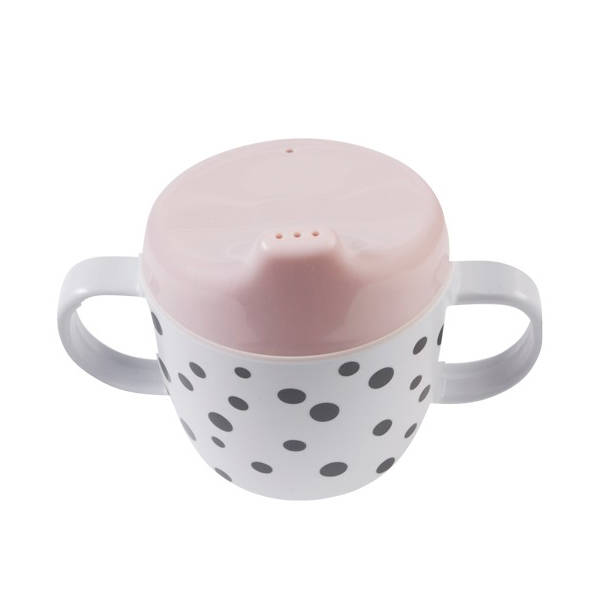 Drinkbeker happy dots roze – Done by deer