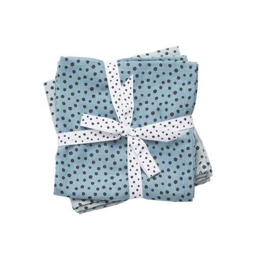 hydrofiele doeken klein happy dots blauw – Done by deer