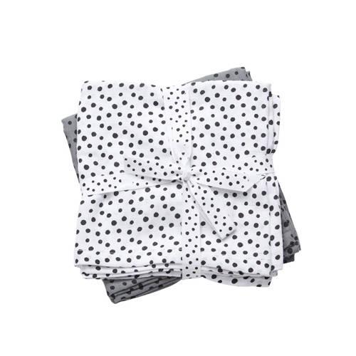 hydrofiele doeken klein happy dots grijs – Done by deer