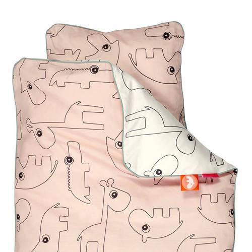 Dekbedovertrek Contour Junior roze – Done by Deer