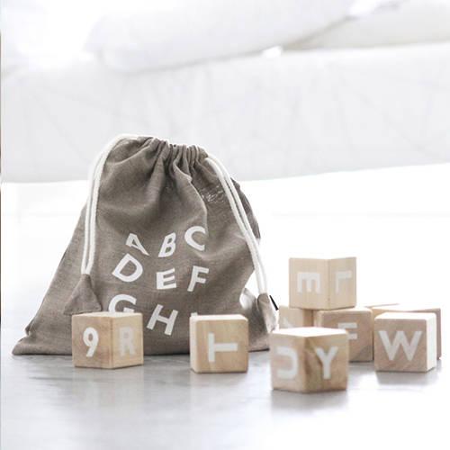 Alfabet blokken wit – Ooh Noo