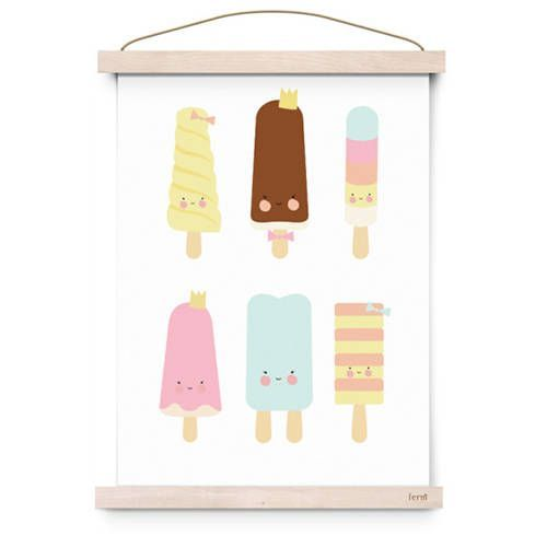 Poster Popsicle parlour- Eef Lillemor