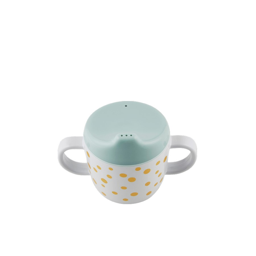 Drinkbeker happy dots goud/blauw – Done by deer