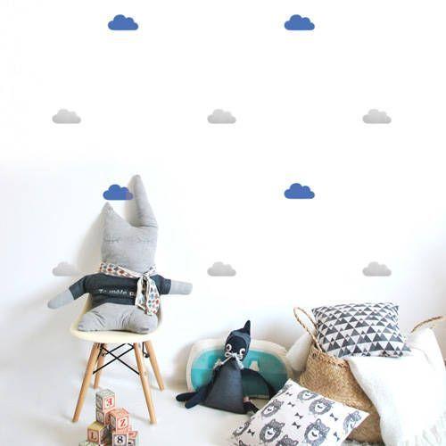 Muurstickers wolken blauw-grijs – Pöm