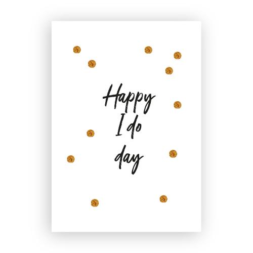 Kaart 'Happy I do day'