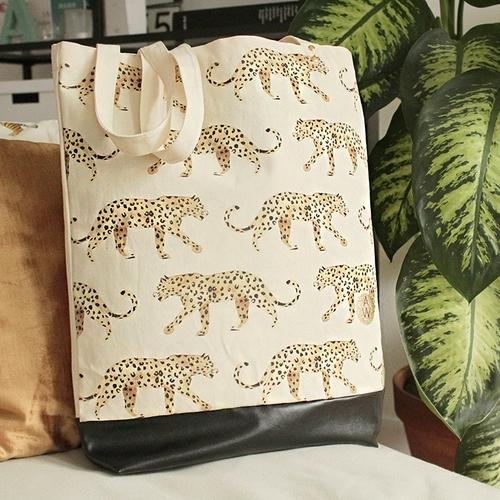 Shopper Leopard - Bio Katoen - uniek design