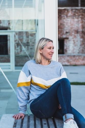 Sweater - toffe print - sportief