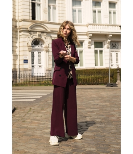 Pants brede pijpen - hoge taille - comfy pasvorm