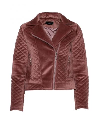 Fluwelen Biker Jacket - Roze - Musthave!