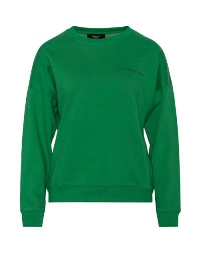 Sweater in een fris kleurtje met leuke quote