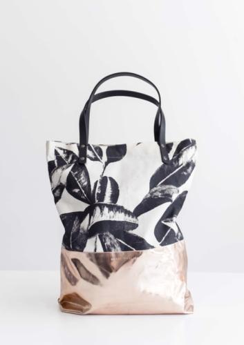 Shopper Leaves - Bio Katoen - uniek design