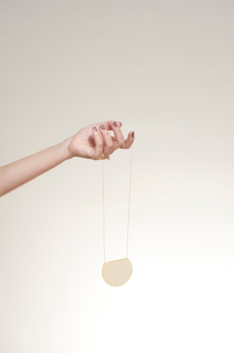 Verguld - lange ketting - Moon - handgemaakt