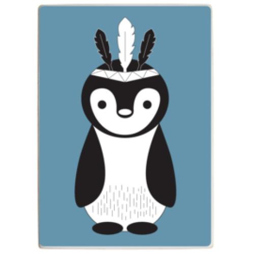 HOUTBLOK | Pinguin Blue