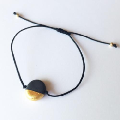 JUWEEL | Armband zwart/goud
