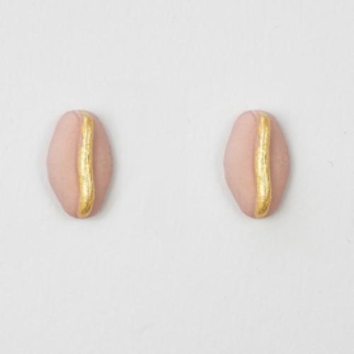 JUWEEL | Oorbellen boon roze/goud