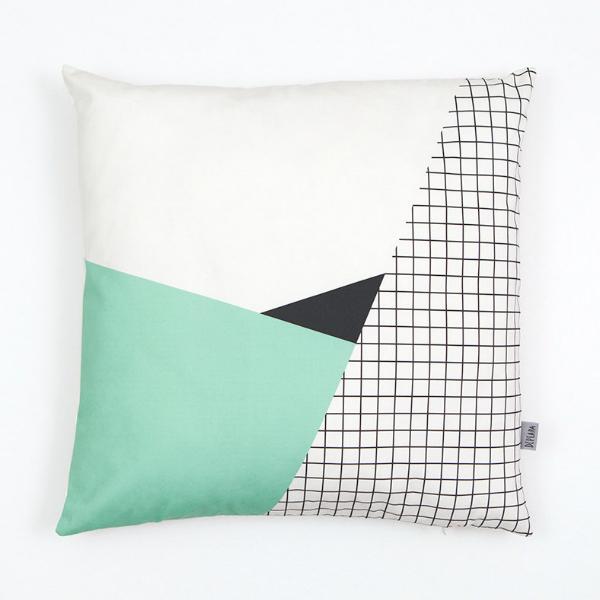 Kussenhoes geometrische en mint pastel prints 50x50 - Kidsdinge - Cadeautjes voor kids & jezelf