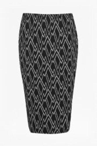 Zigzag tube skirt