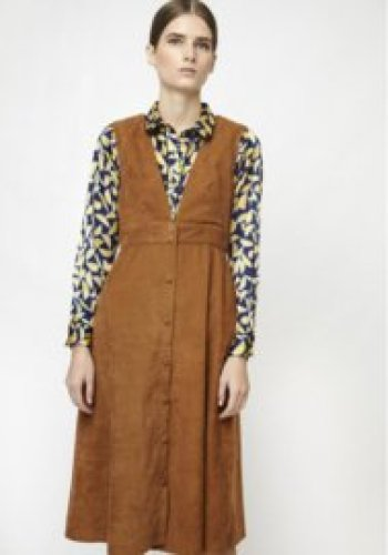 Compania Fantastica - Brown Pinafore dress