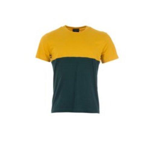 Munoman - T-shirt Arno mustard/deep green