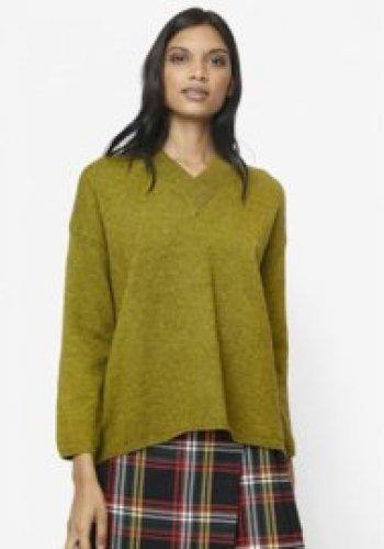 Compania Fantastica - Green V-neck jumper