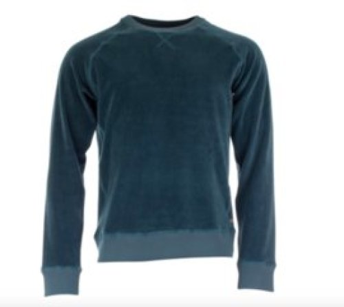 Munoman - Sweater Ilias hydro blue velvet