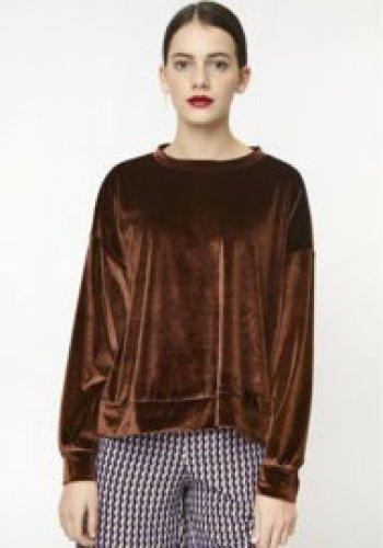 Compania Fantastica - Brown velvet sweater