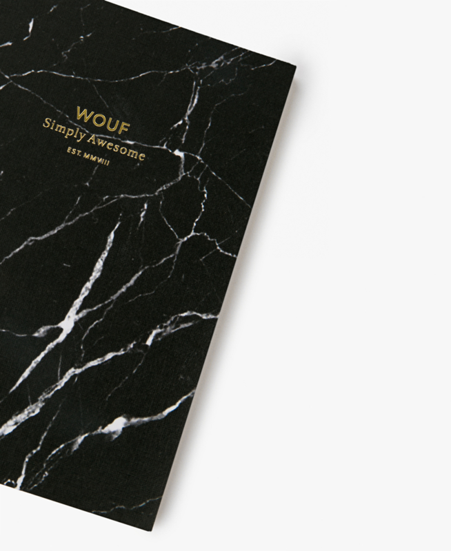 Wouf - A6 notebook Black Marble