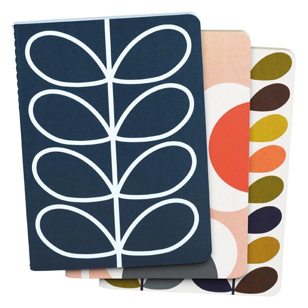 Set van 3 mini-notaboekjes Orla Kiely