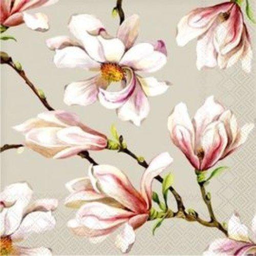 Servietten Magnolia grijs