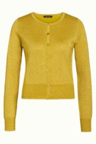 KL - Cardi roundneck lapis curry yellow